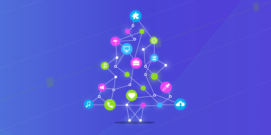 Internet of things KPI tree icon